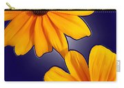 Black-eyed Susans On Blue Carry-all Pouch