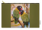 Black Faced Love Birds.  Chloe The Flying Lamb Productions  Carry-all Pouch