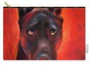 Black Great Dane Dog Painting Carry-all Pouch