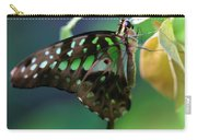 Black Green Tailed Jay 2 Carry-all Pouch