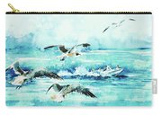 Black-headed Seagulls At Seven Seas Beach  Carry-all Pouch
