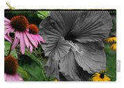 Black Hibiscus Carry-all Pouch
