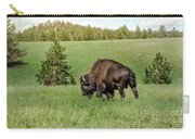 Black Hills Bull Bison Carry-all Pouch by Robert Frederick