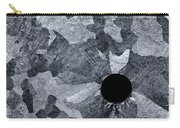 Black Hole - Galvanized Steel - Abstract Carry-all Pouch