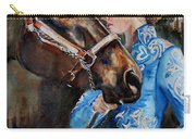 Black Horse And Cowgirl   Carry-all Pouch