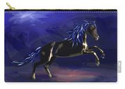 Black Horse At Night Carry-all Pouch