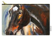 Black Horse Oil Painting Carry-all Pouch