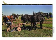 Black Horses With Sulky Plow Two  Carry-all Pouch