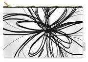 Black Ink Flower 1- Art By Linda Woods Carry-all Pouch