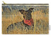 Black Lab In Grassy Field Carry-all Pouch