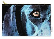 Black Labrador Retriever Dog Art - Hunter Carry-all Pouch by Sharon Cummings