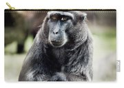 Black Macaque Monkey Sitting Carry-all Pouch