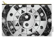 Mandala-black Carry-all Pouch