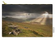 Black Mountains Light Rays Carry-all Pouch