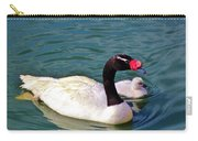 Black-necked Swan With Baby Carry-all Pouch