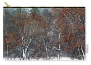 Black Oaks In Snowstorm Yosemite National Park Carry-all Pouch