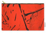 Black On Red Carry-all Pouch