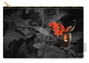 Black-orange Butterfly Carry-all Pouch