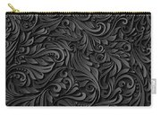 Black Paper Floral Seamless Pattern Carry-all Pouch