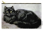Black Persian Cat Carry-all Pouch
