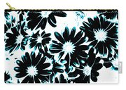 Black Petals With Sprinkles Of Teal Turquoise Carry-all Pouch