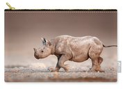 Black Rhinoceros Baby Running Carry-all Pouch