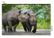 Black Rhinoceroses Carry-all Pouch