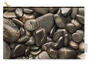Black River Stones Portrait Carry-all Pouch by Steve Gadomski