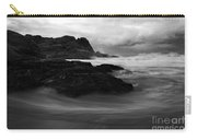Black Rock  Swirl Carry-all Pouch by Mike  Dawson