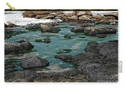 Black Rocks On Blue Water Carry-all Pouch