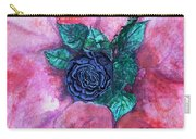 Black Rose Carry-all Pouch