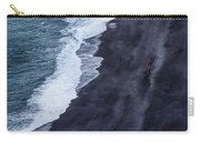 Black Sand Beach, Iceland Carry-all Pouch