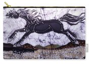 Black Stallion Gallops Over Stones Carry-all Pouch