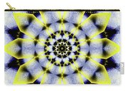 Black, White And Yellow Sunflower Carry-all Pouch