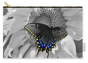 Black Swallowtail And Sunflower Color Splash Carry-all Pouch
