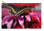 Black Swallowtail Butterfly On Coneflower Square Carry-all Pouch