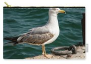 Black Tailed Gull On Dock Carry-all Pouch