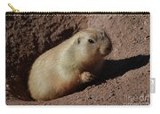 Black Tailed Prairie Dog Climbing Out Of A Hole Carry-all Pouch