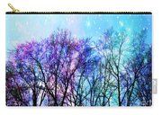 Black Trees Bright Pastel Space Carry-all Pouch