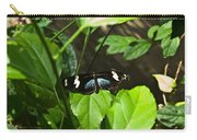 Black Tropical Butterfly Carry-all Pouch