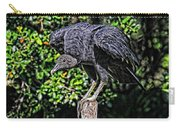 Black Vulture On A Fence Post Carry-all Pouch