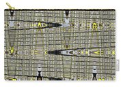 Black Walnut Drawing With Yellow Abstract Carry-all Pouch