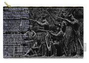 Black When Haitians Were Heroes In America Series Print No. 2 With Text Carry-all Pouch