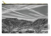 Black White Chem Trails Sky Overton Nevada  Carry-all Pouch