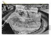 Black White Horseshoe Bend Arizona  Carry-all Pouch