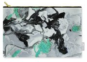 Black, White, Turquoise And Silver Carry-all Pouch