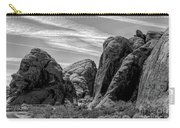 Black White Valley Of Fire  Carry-all Pouch
