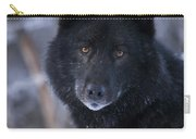 Black Wolf Portrait Carry-all Pouch