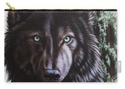 Black Wolf Carry-all Pouch