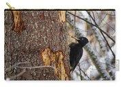 Black Woodpecker Peek Carry-all Pouch